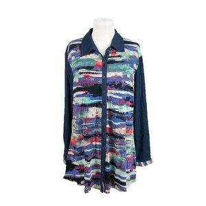 Parsley & Sage XL Tunic Button Front Long Sleeves